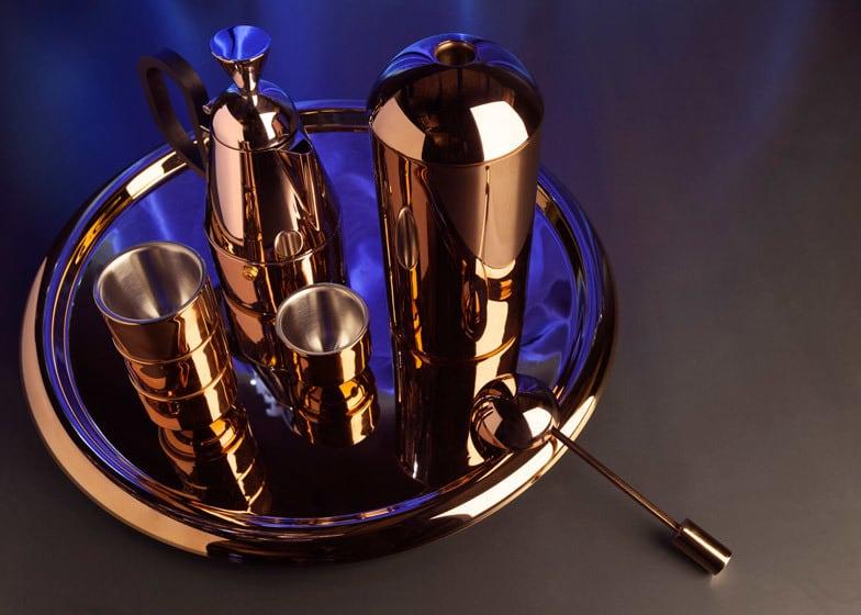 copper-coated coffee set