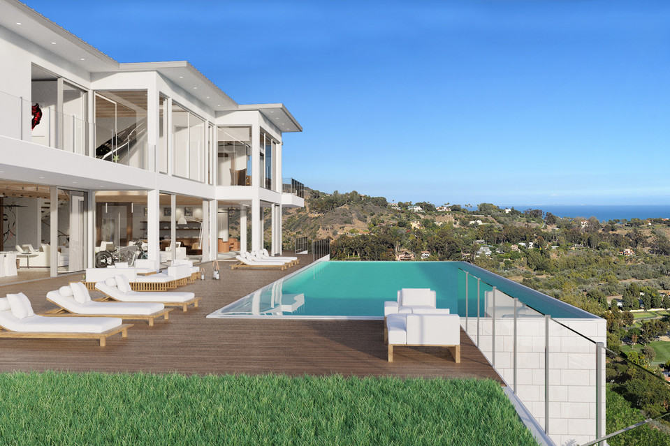 Jaw dropping malibu house featuring an airplane chandelier for Buy house in malibu