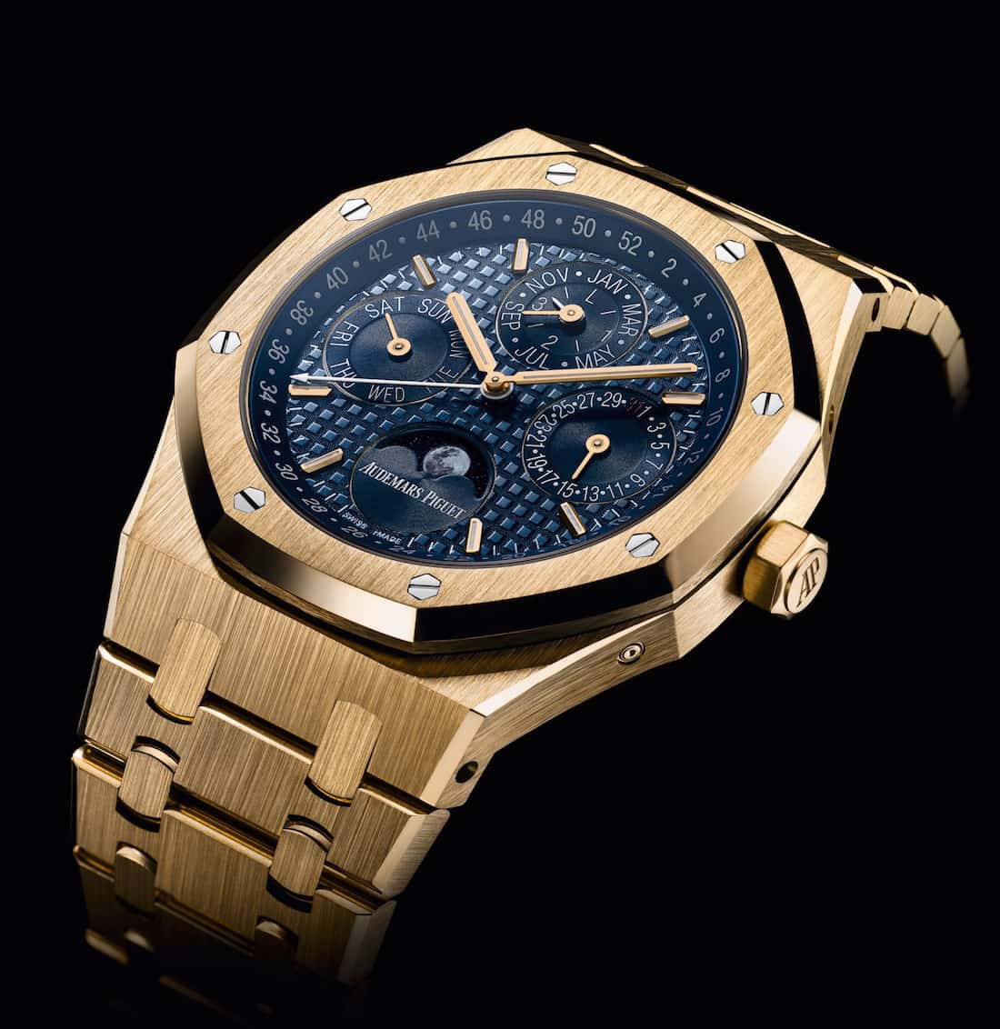 Audemars Piguet Royal Oak Perpetual Calendar In Yellow Gold