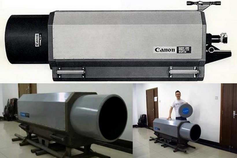 Canon 5200mm f/14 mirror lens