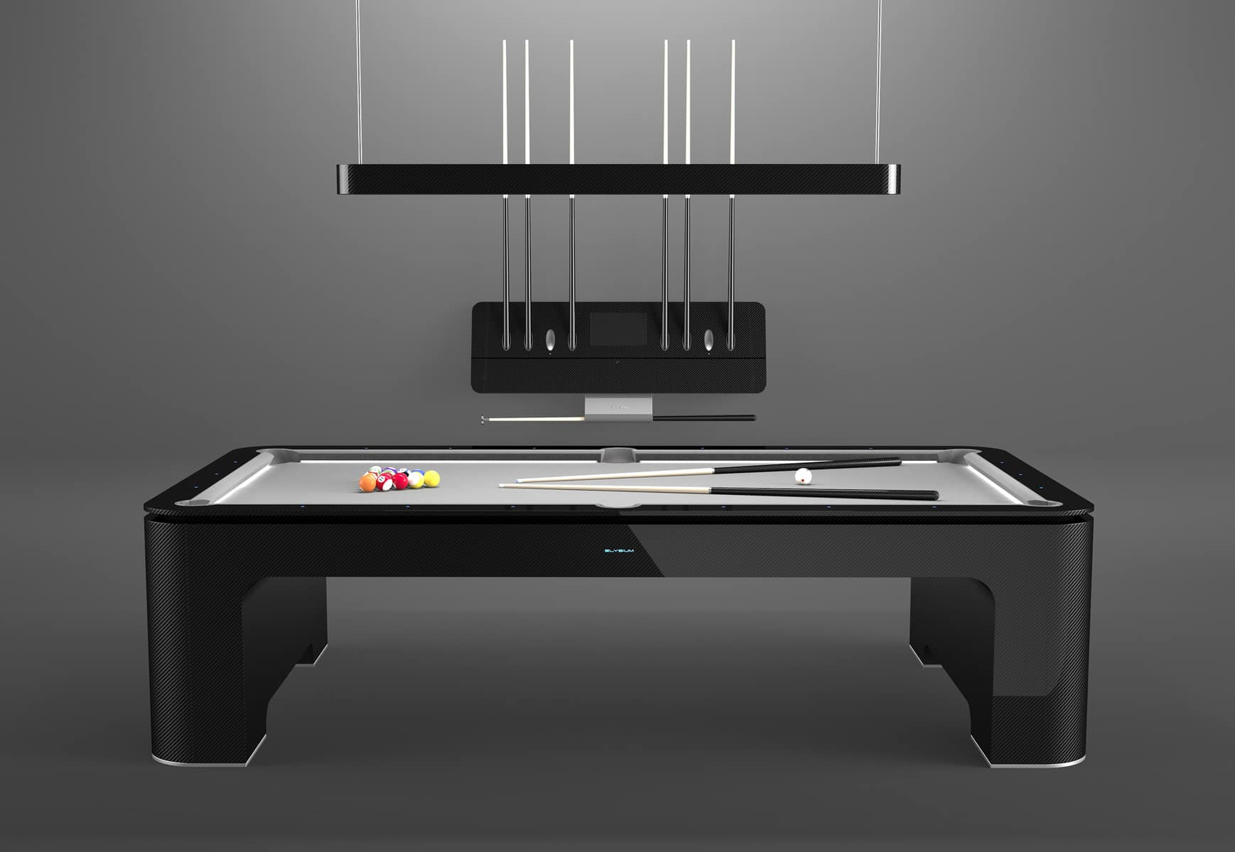 The Elysium Carbon Fiber Pool Table Is Beyond Awesome