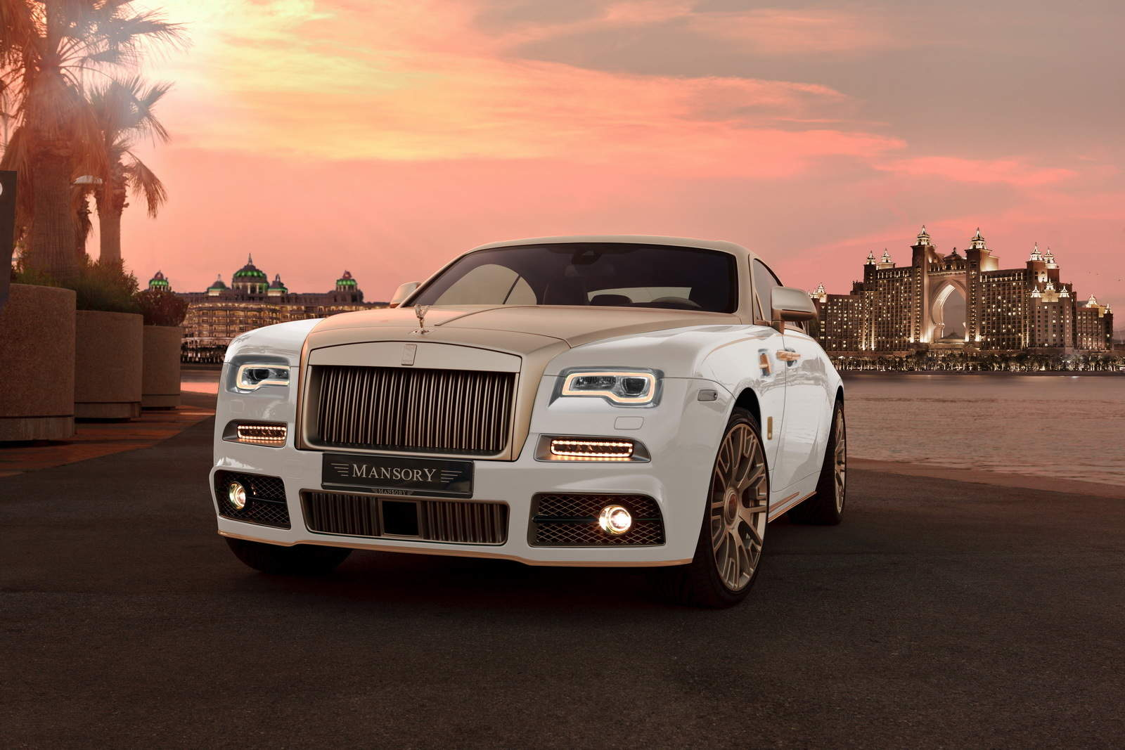 Mansory S Gold Plated Rolls Royce Wraith Palm Edition 999