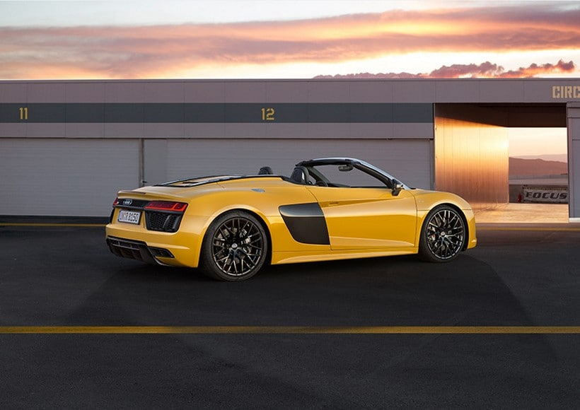 The New Audi R8 V10 Convertible Takes It Off