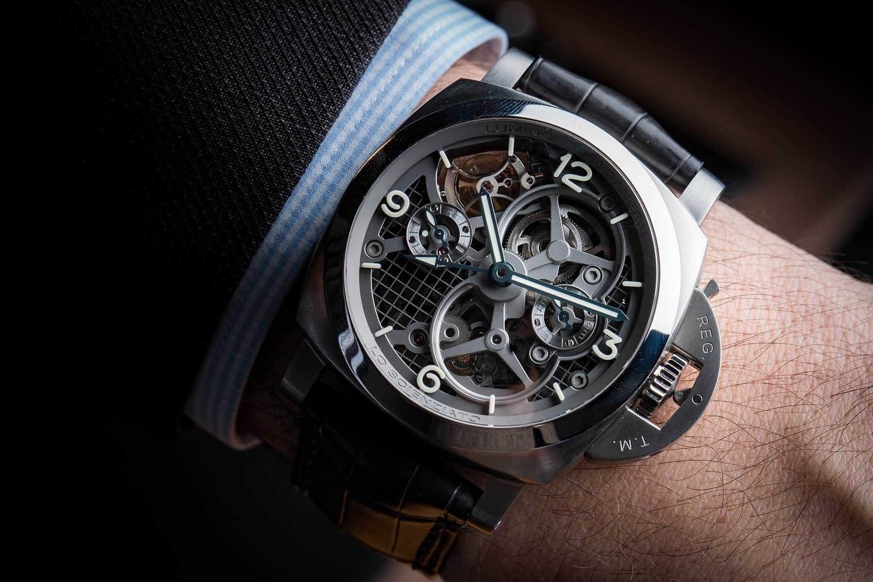 The Panerai Lo Scienziato Luminor 1950 Tourbillon GMT Titanio