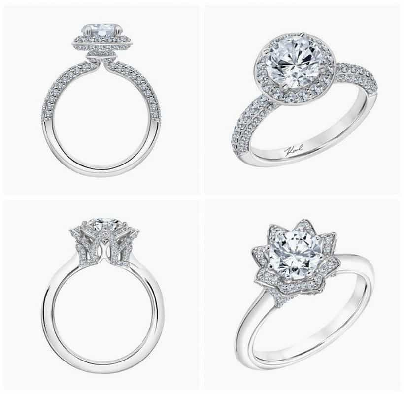 Karl Lagerfeld engagement rings