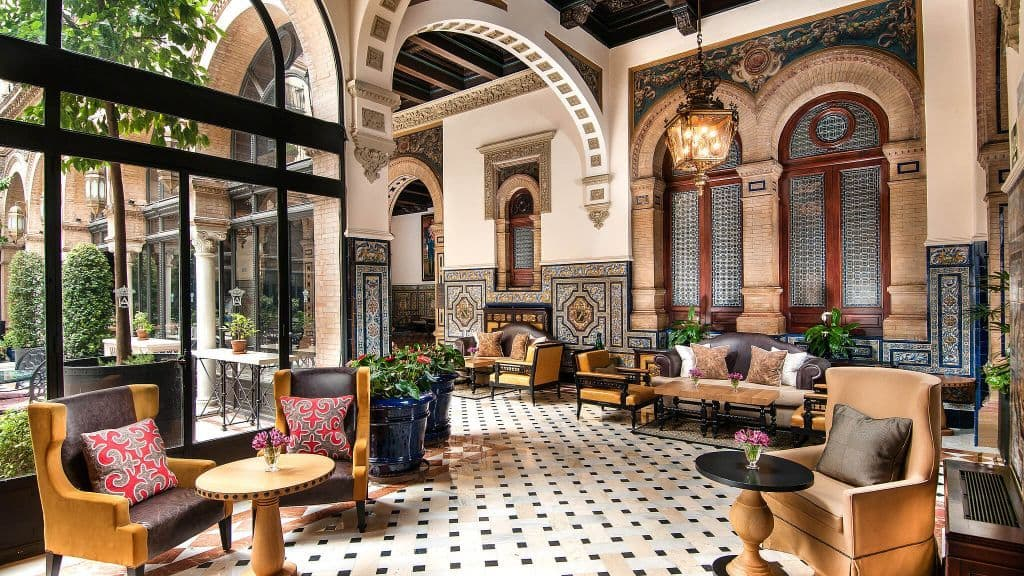 seville 39 s hotel alfonso xiii takes you back in time. Black Bedroom Furniture Sets. Home Design Ideas