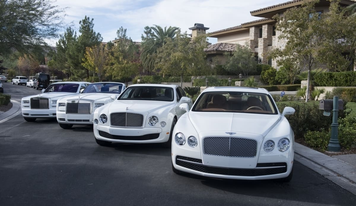 Floyd Mayweather all white cars