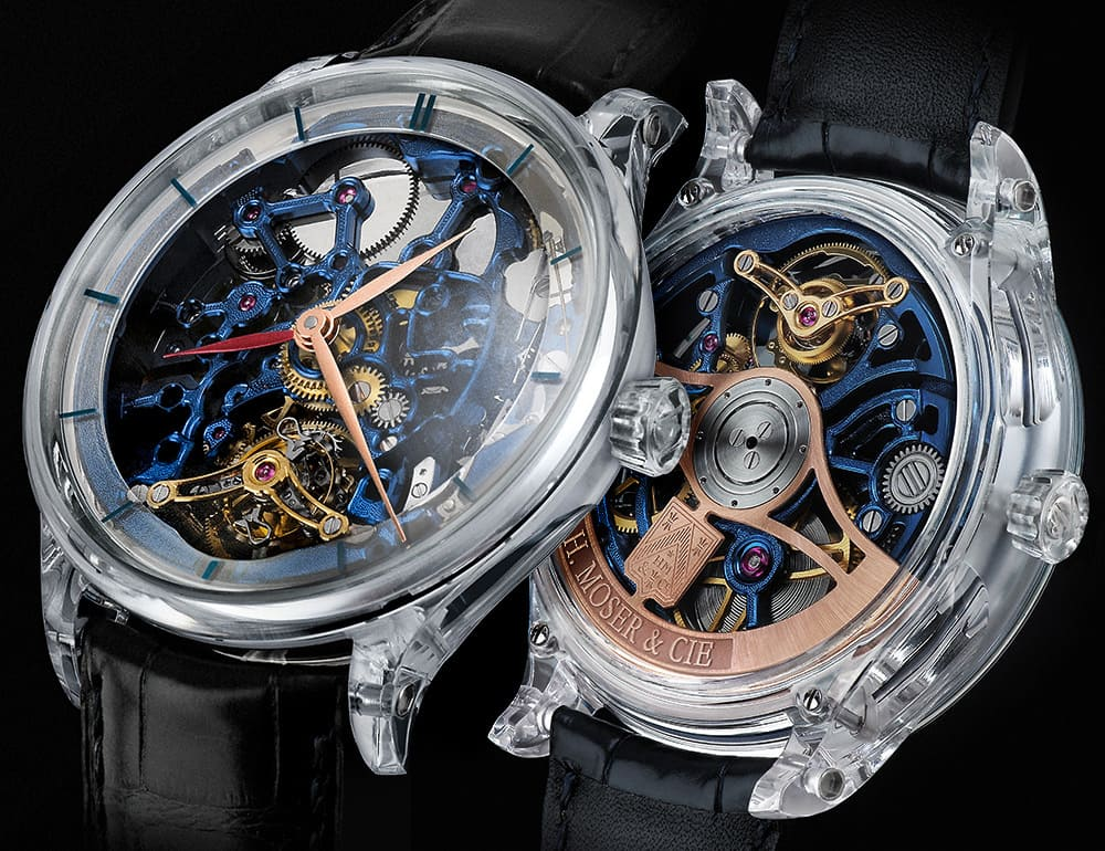 Venturer Tourbillon Dual Time Sapphire Blue Skeleton