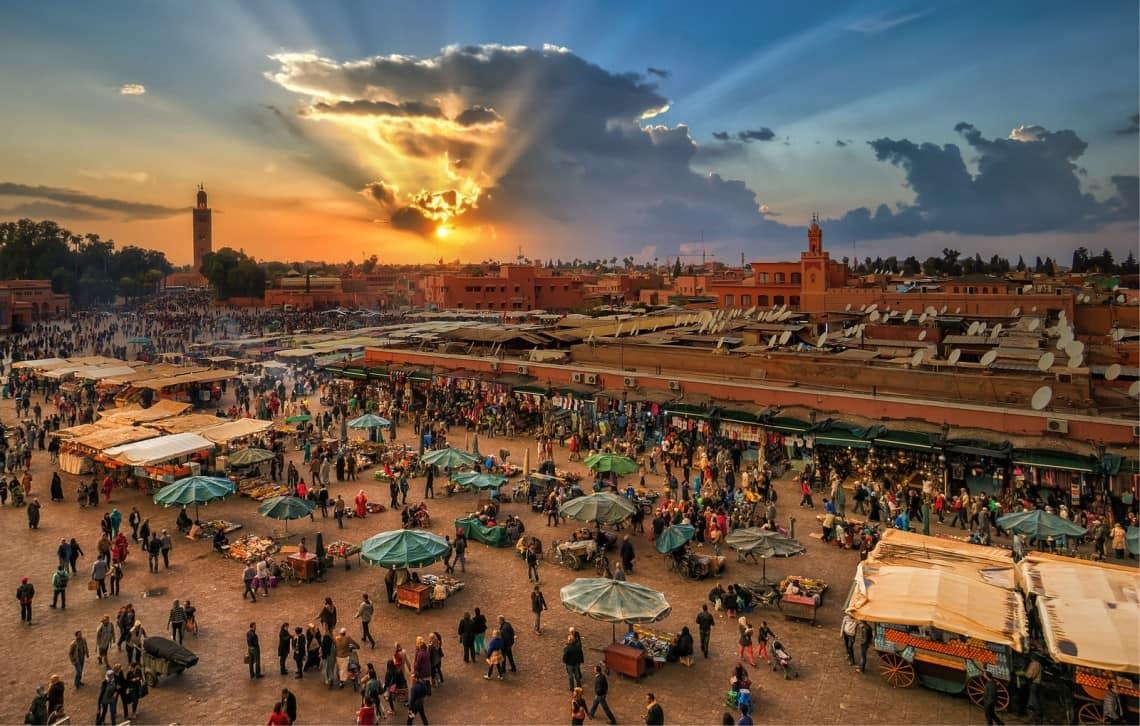 Marrakesh winter