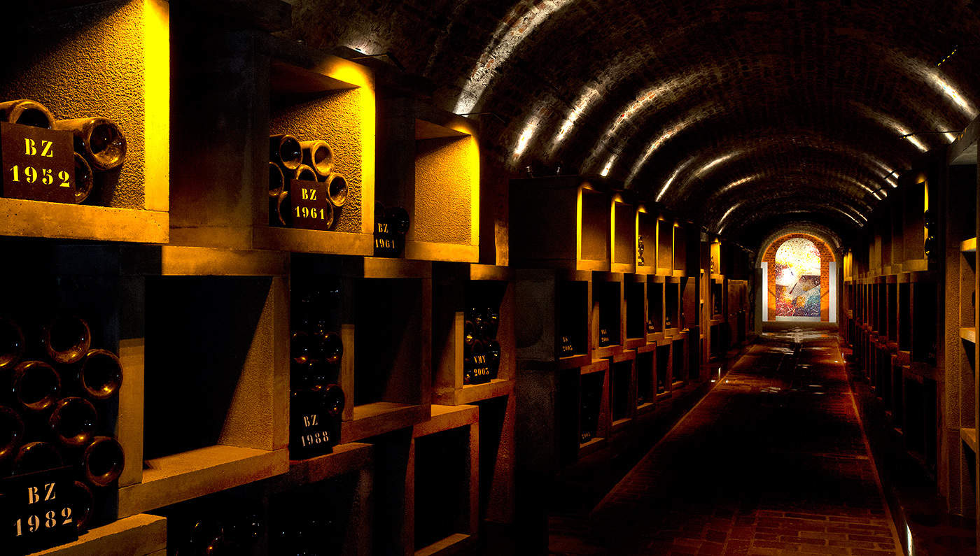 Champagne Bollinger Wine Libraries