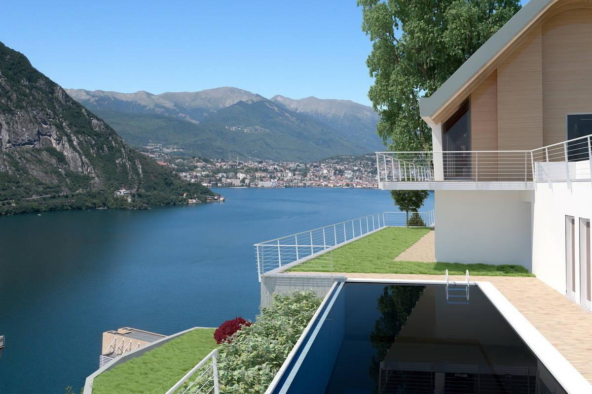This stunning lake lugano villa should be your new home for Vendita design