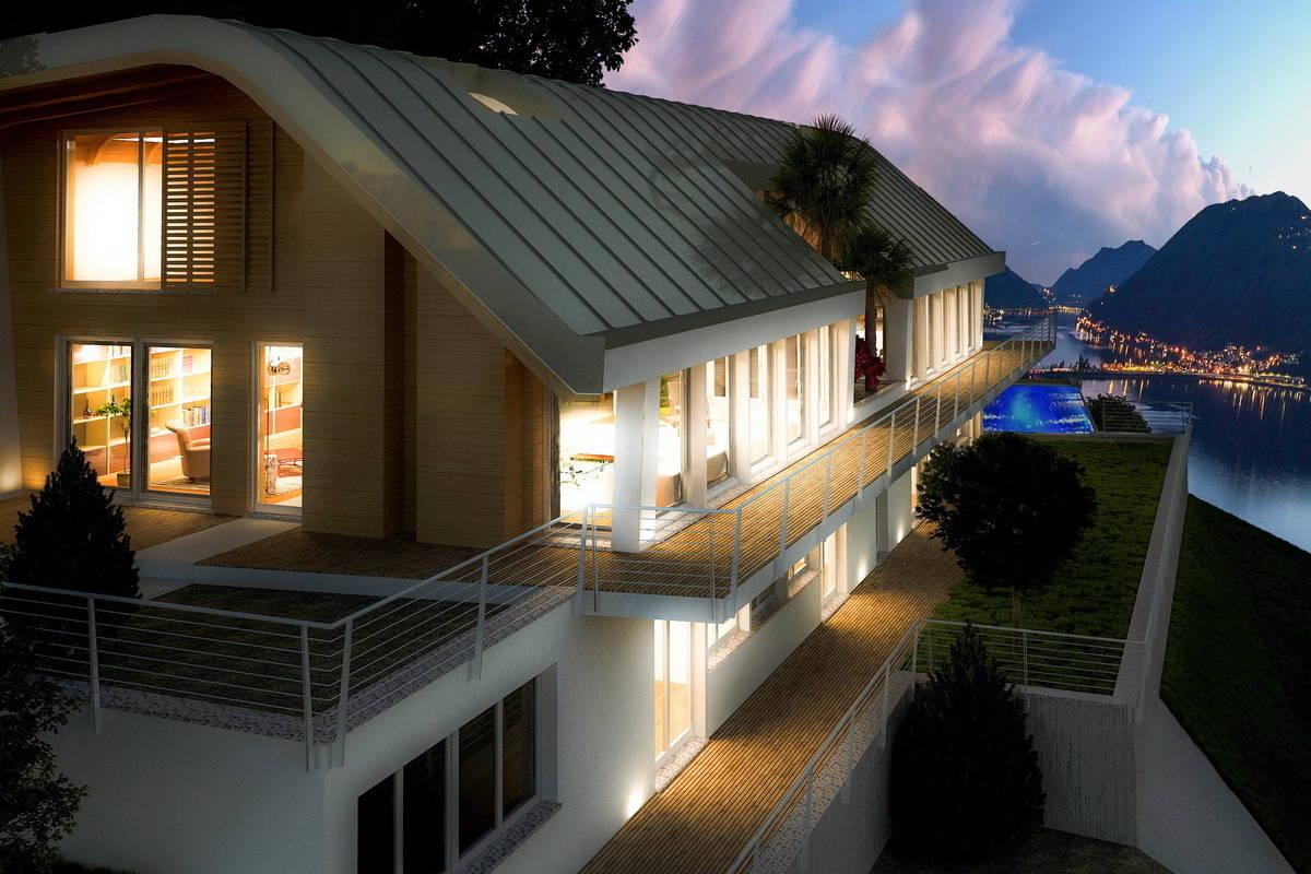 This stunning lake lugano villa should be your new home for Interni ville moderne nuova costruzione