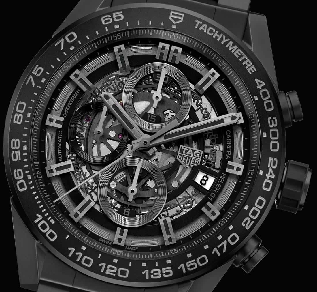 TAG Heuer Carrera Heuer-01 Full Black Matt Ceramic