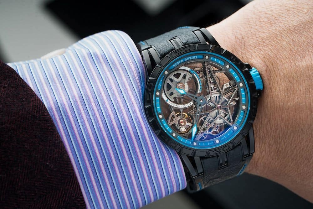 9012035f4f5 The roger dubuis excalibur shows off new skins jpeg 1000x667 Roger dubuis  excalibur spider pirelli