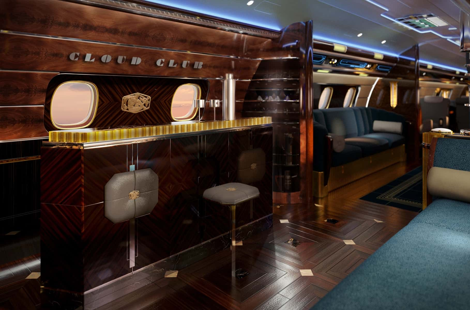 Art Deco Dining Room Set Embraer Lineage 1000e Manhattan Amp Hollywood Take Luxury To