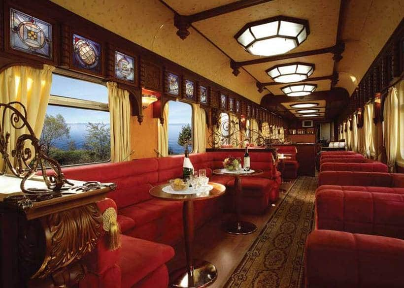 Golden Eagle Trans-Siberian Express train interior