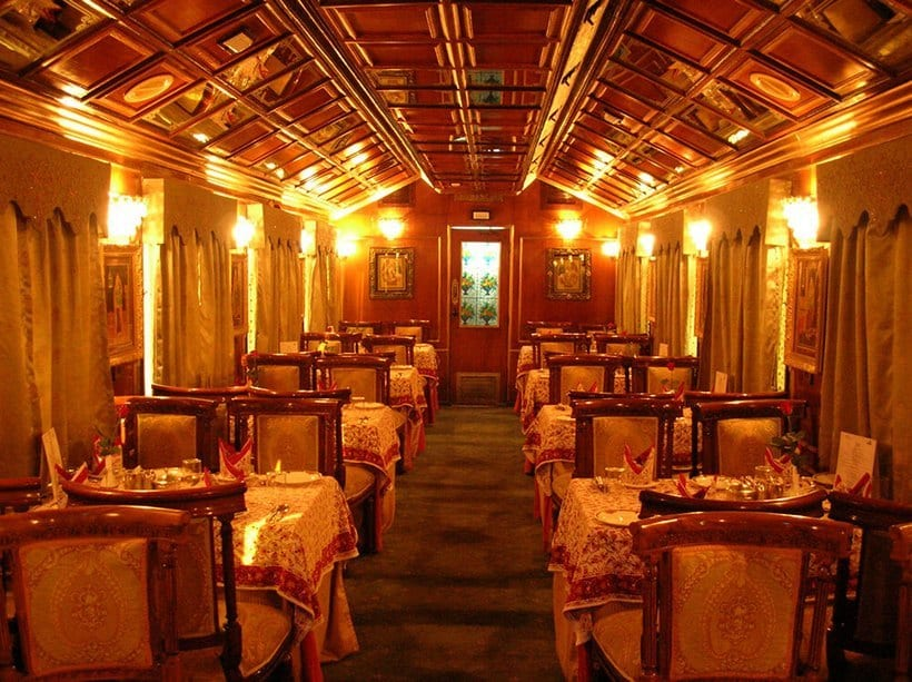 Palace on Wheels train interior