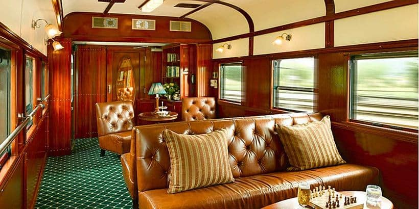 Pride of Africa train interior