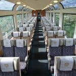 Rocky Mountaineer train interior