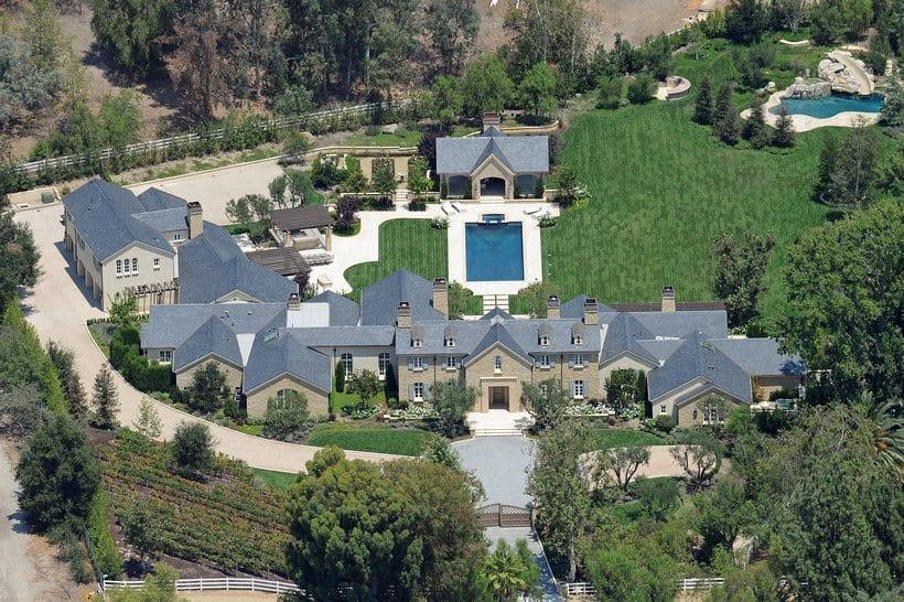 Kanye West Kim Kardashian Hidden Hills home