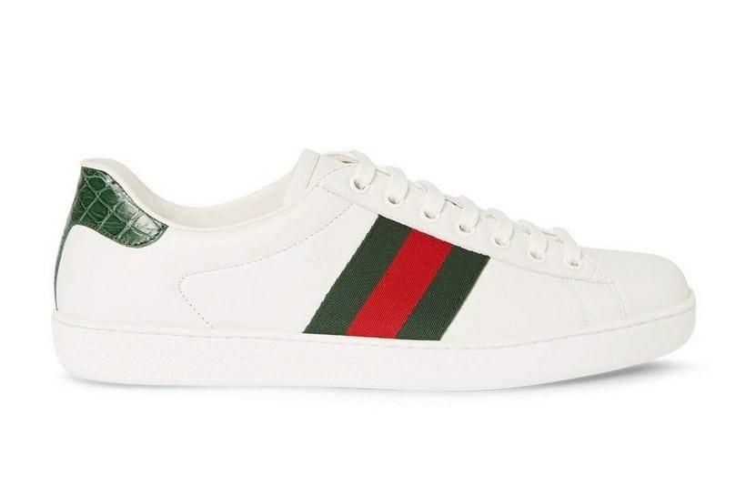 Gucci Crocodile Webbing white