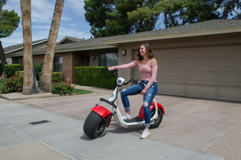 Electric moped scooter 12