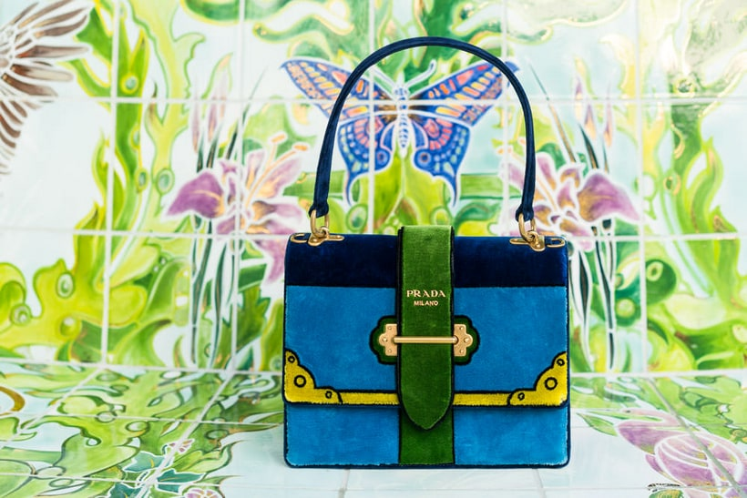 Prada Velvet Cahier Bags