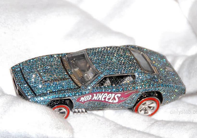 40th-anniversary Diamond - Encrusted Hot Wheels