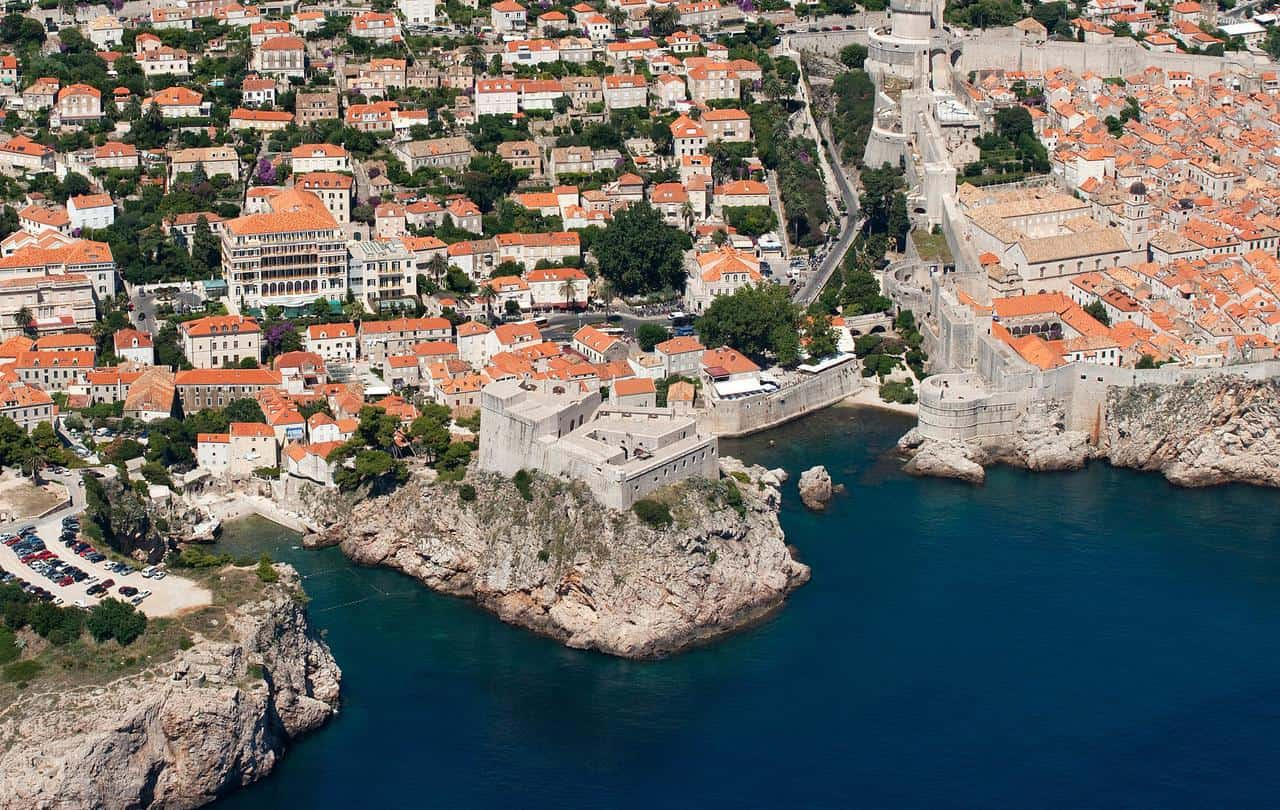 Hilton Imperial Dubrovnik aerial view
