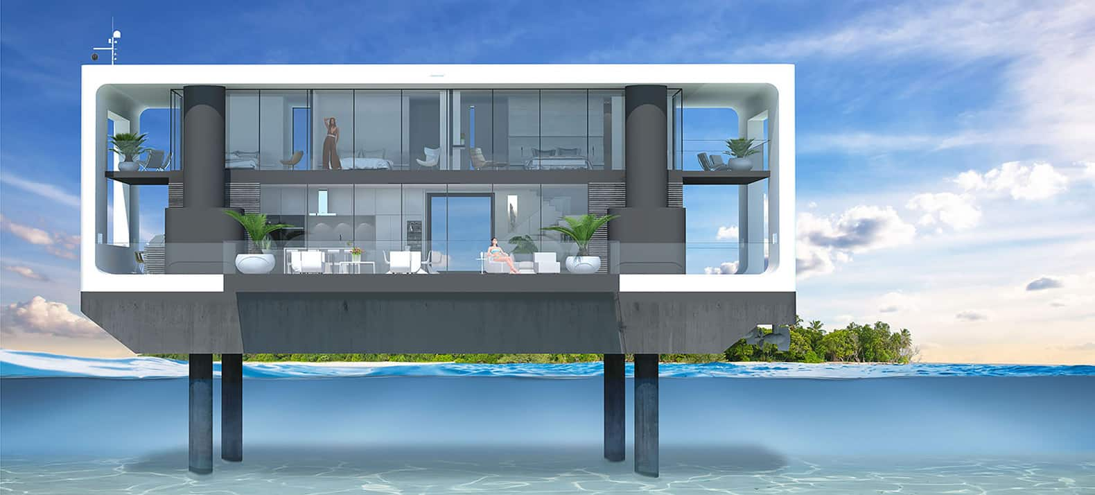 Arkup Floating Homes Are Ready To Handle Anything