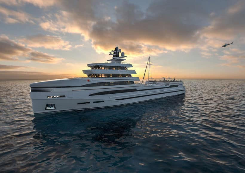 Rosetti Superyachts & Rolls Royce Marine Imagined This Stunning Yacht Concept