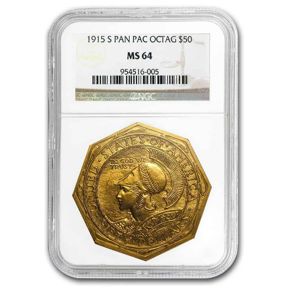 1915 Panama Pacific Octagonal Gold Coin