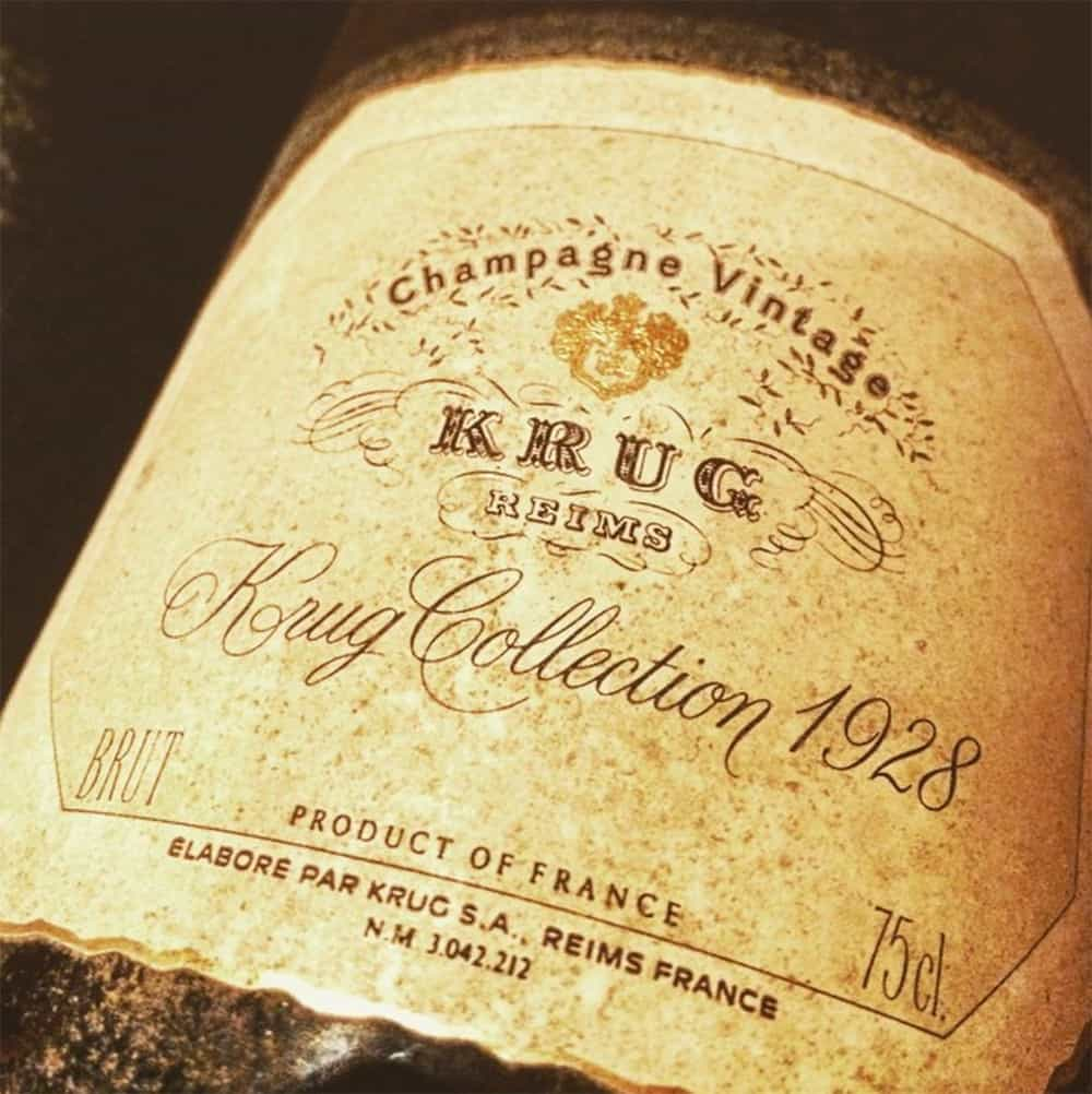 Image result for 1928 krug champagne
