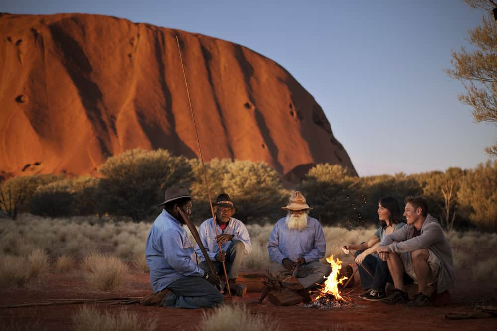 Desert camping near the Ayers Rock