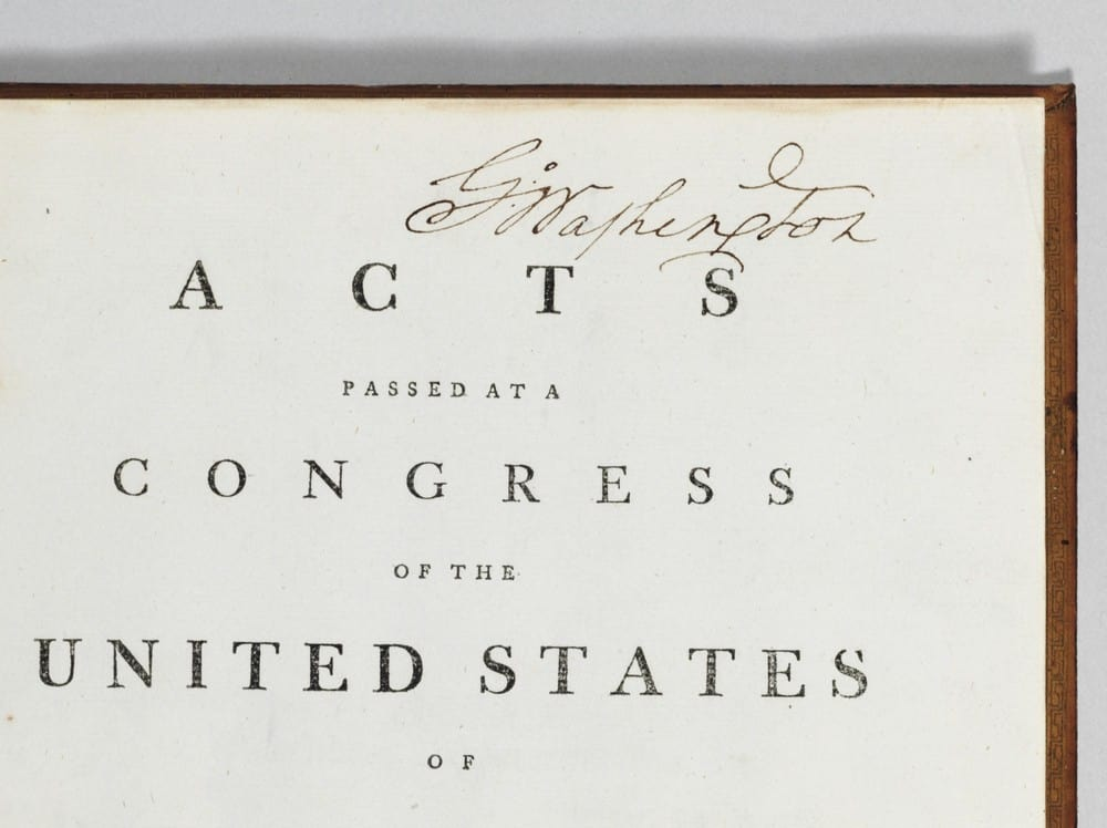 George Washington's Annotated Copy of the Constitution and Bill of Rights