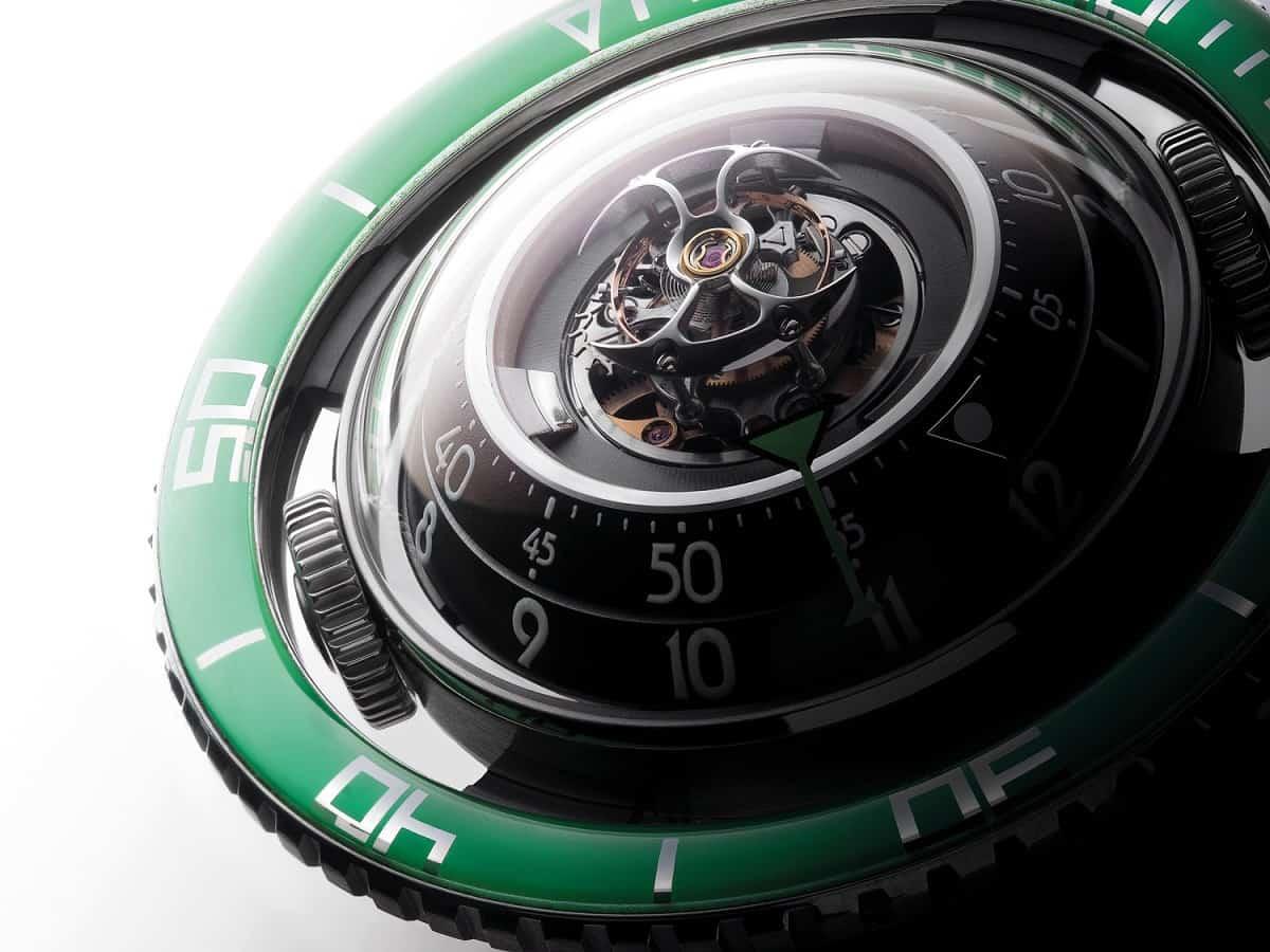 MB&F HM7 Aquapod Titanium Green
