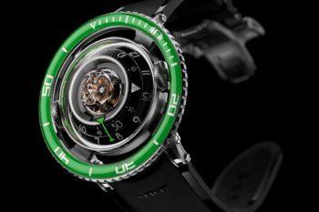MB&F HM7 Aquapod Titanium Green 3