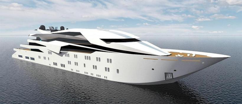 Superyachten concept  Project #4 is a Breathtaking 127m Superyacht Concept