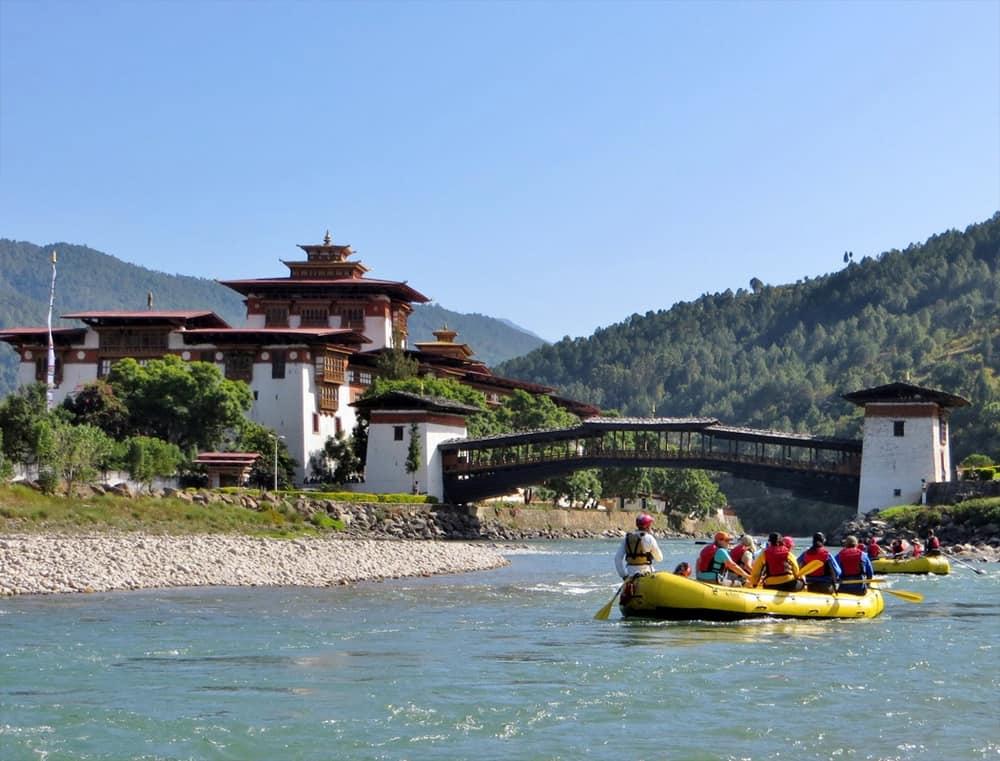 White Water raften in Bhutan