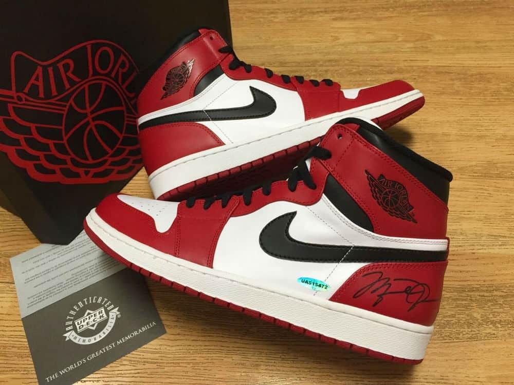 Air Jordan I autographed