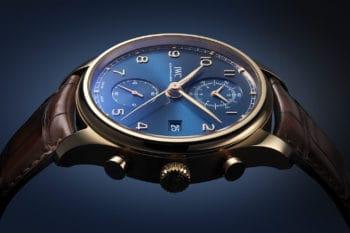 IWC Portugieser Chronograph Classic Bucherer Blue Editions 1
