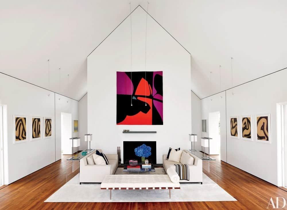 Contemporary Art Gallery Living Room