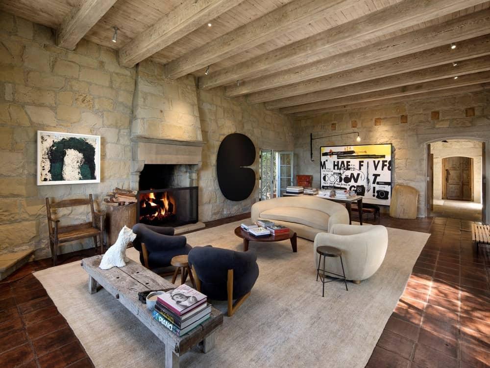 Ellen Degeneres tuscan living room