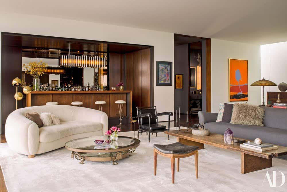 Jennifer Aniston's Classically-Elegant Living Room