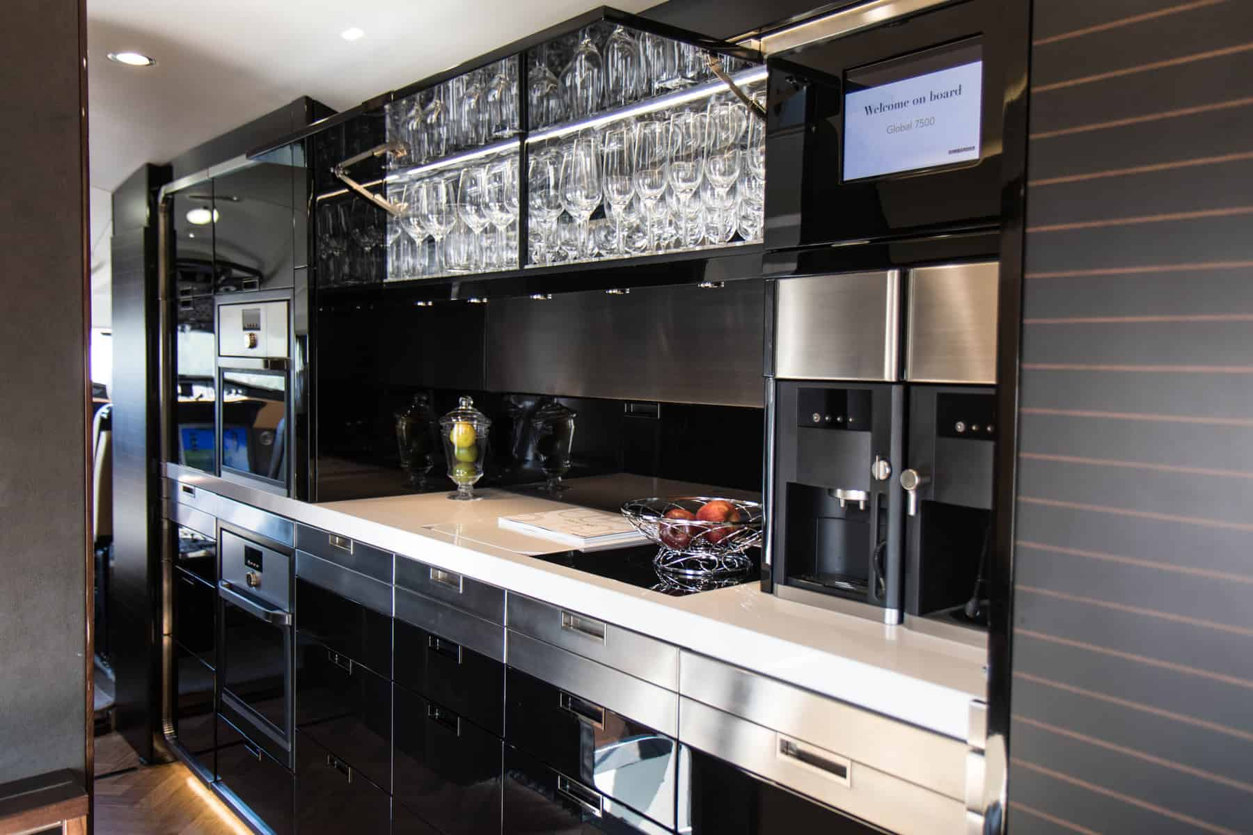 Bombardier Global 7500 kitchen
