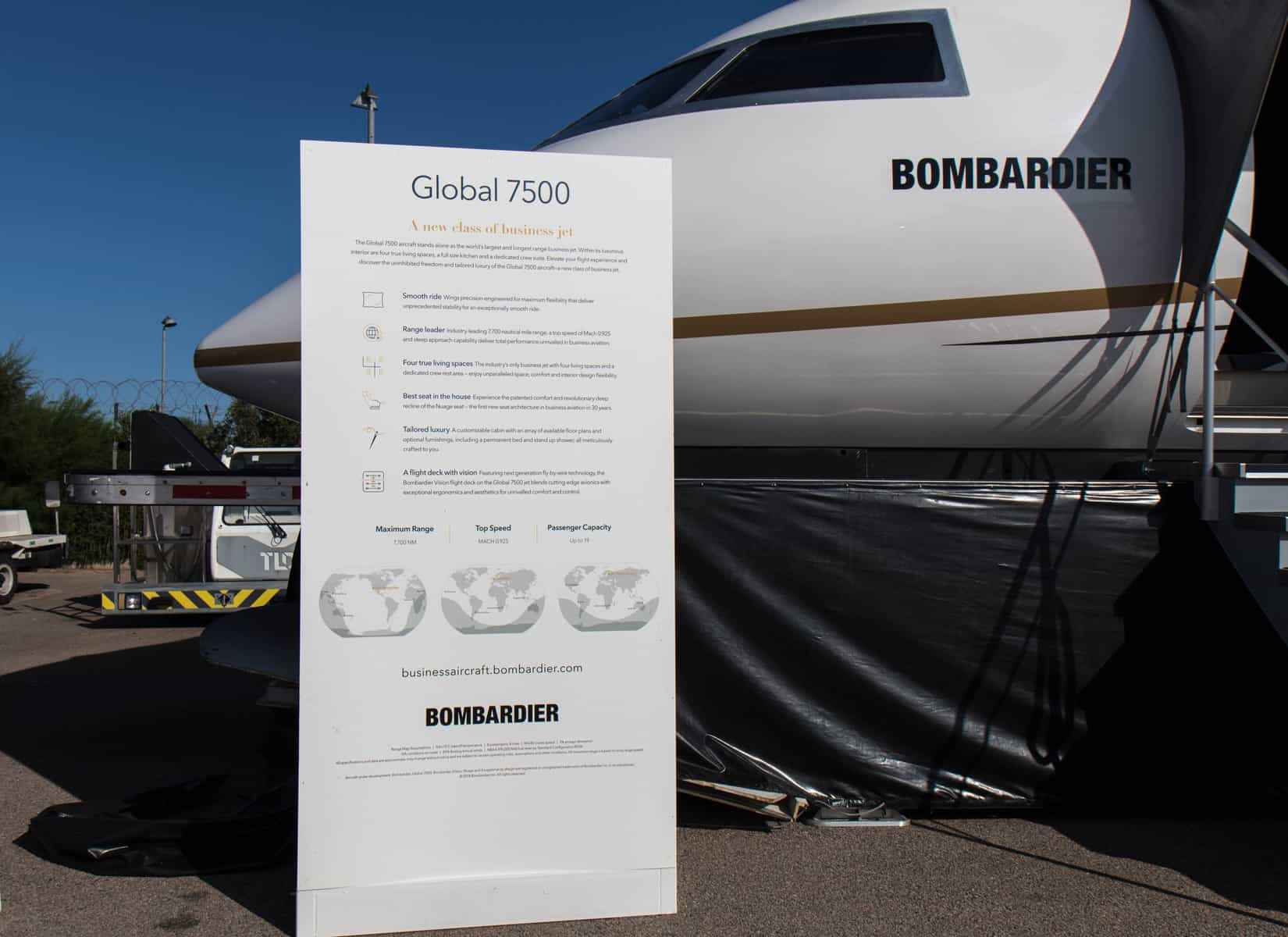 Bombardier Global 7500 Mock Up Tour 40