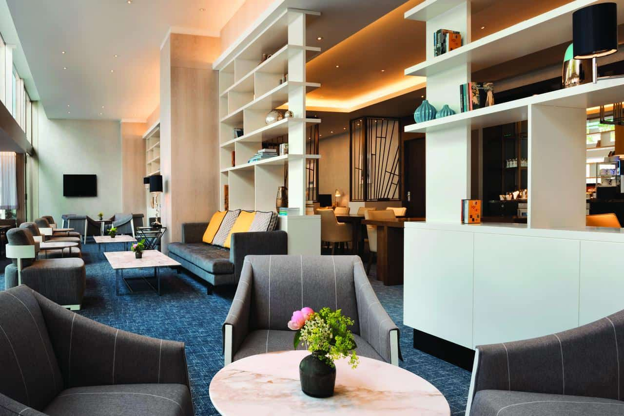 Hilton Rotterdam executive lounge