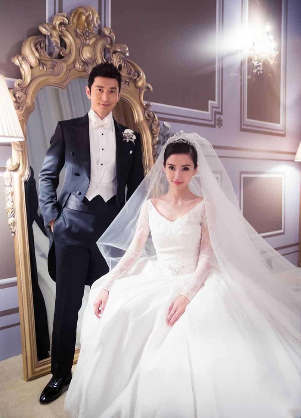 Angelababy wedding dresses
