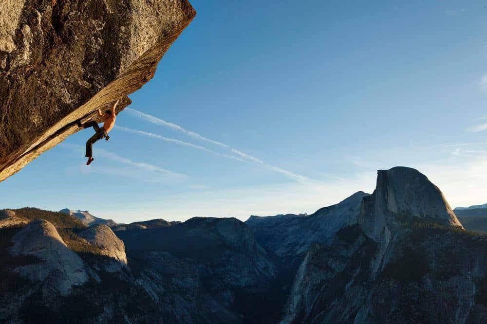 Free Solo Rock Climbing