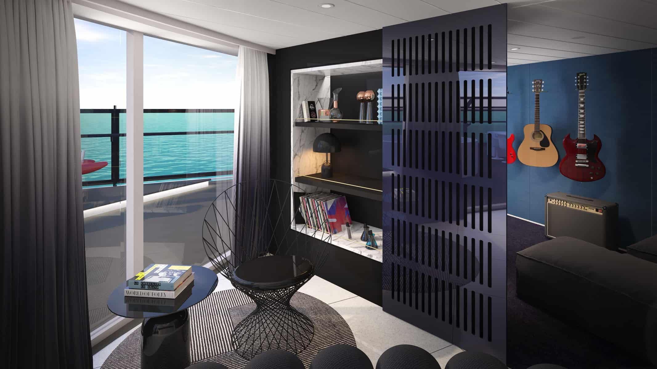 Tom Dixon Virgin Cruise suites